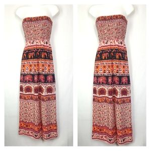 Angie maxi dress, elephants dress, size large.